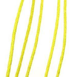 Jewellery cotton cord 2 mm yellow