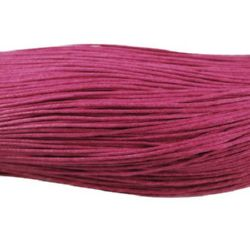 Cotton jewellery elastic 0.7 mm Dark Pink