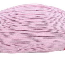 Cotton jewellery elastic 0.7 mm Light pink