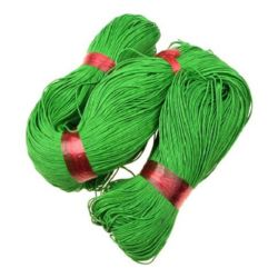 Cotton jewellery elastic 0.7 mm,green
