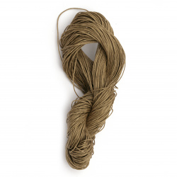 Cotton cord 0.8 mm beige dark ~ 72 meters