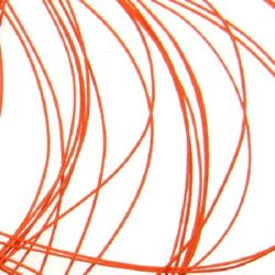 Шнур полиестер с основа корда 0.8 мм оранжев тъмно -90 метра