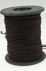 Polyester jewellery cord with cord0.8 mm brown dark ~ 100 meters