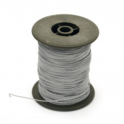 Polyester jewellery cord with cord 0.8 mm,ligt gray