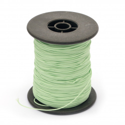 Polyester jewellery cord with cord0.8 mm green light ~ 100 meters