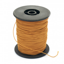 Polyester jewellery cord with cord0.8 mm orange ~ 100 meters