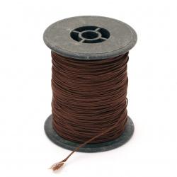 Шнур полиестер с основа корда 0.8 мм кафяв ~100 метра