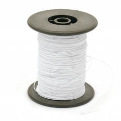 Polyester jewellery cord with cord base 0.8 mm white ~ 60 meters