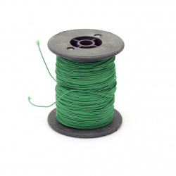 Polyester jewellery cord with cord 0.8 mm green ~ 60 meters