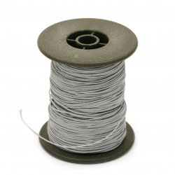 Polyester jewellery cord with cord0.8 mm gray light ~ 60 meters