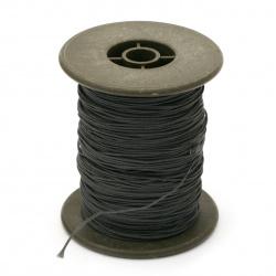 Шнур /конец/ полиестер с основа корда 0.8 мм сив тъмно ~60 метра