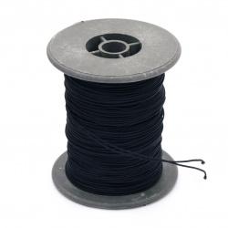 Шнур полиестер с основа корда 0.8 мм черен ~60 метра