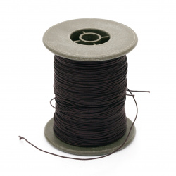Polyester jewellery cord with cord 0.8 mm brown dark ~ 60 meters