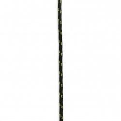 Κορδόνι paracord  3 mm χρώμα μαύρο πράσινο - 1 μέτρο