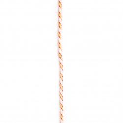 Паракорд /парашутно въже/ 3 мм цвят бял жълт червен - 1 метър