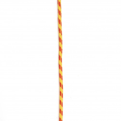 Paracord / parachute rope / 3 mm color yellow red - 1 meter