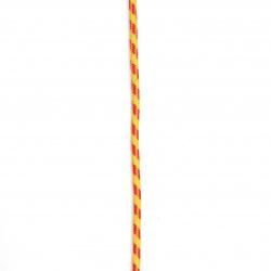 Paracord / frânghie de parașută / 3 mm culoare galben roșu - 1 metru