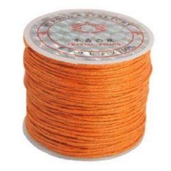 Βαμβακερό κορδόνι 1 mm πορτοκαλί σκούρο ~ 25 μέτρα