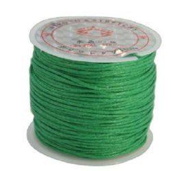Памучен колосан шнур/конец/ 1 мм зелен ~25метра