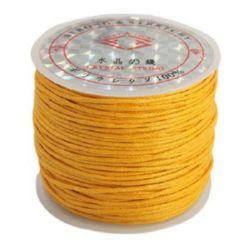 Памучен колосан шнур/конец/ 1 мм оранжев светъл ~25метра