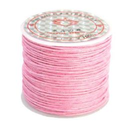 Cotton cord 1 mm pink ~ 25 meters