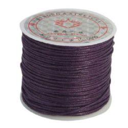 Шнур памук колосан 1 мм лилав тъмен ~25метра