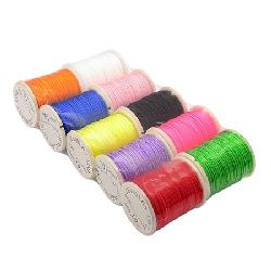 Cotton cord 0.5 mm ASSORTED colors ~ 10 meters
