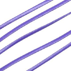 Artificial leather cord2 mm purple -1 meters