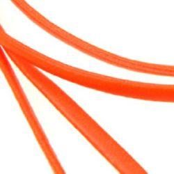 Artificial leather band 4 mm color orange -1 meter