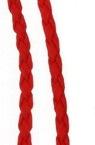 Шнур изкуствена кожа /еко кожа/ 3 мм червен -1 метър