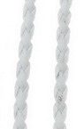 Artificial leather cord 3 mm white -1 meter