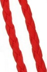 Artificial leather cord  5 mm red -1 meter
