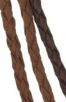 Artificial leather cord 5 mm brown -1 meter