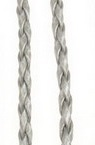 Artificial leather cord  3 mm silver -1 meter