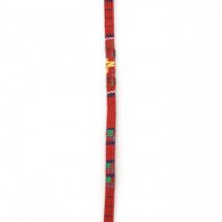 Bandă din material textil 5x2 mm colorat -1 metru