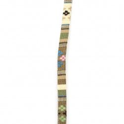 Bandă din material textil 10x2 mm colorat -1 metru