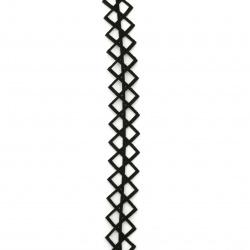 Лента/декоративна/ изкуствена кожа 17 мм за декорация черна -92 см