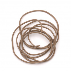 Шнур естествена кожа 1.5 мм капучино - 1 метър
