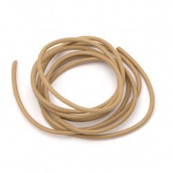 Cordon din piele naturală 2 mm bej - 1 metru