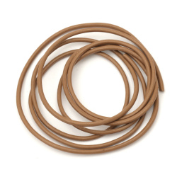 Natural leather cord 2 mm chocolate - 1 meter