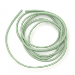Natural leather cord 2 mm turquoise - 1 meter