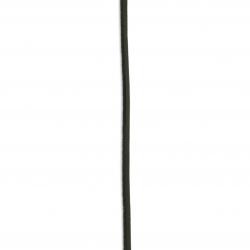 Лента/декоративна/естествена кожа3x2 мм черен - 1 метър