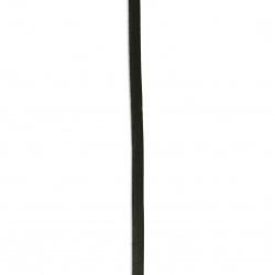 Cord genuine leather 5x2 mm black - 1 meter
