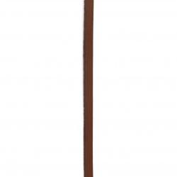 Шнур естествена кожа 5x2 мм керемиден - 1 метър