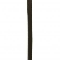 Шнур естествена кожа 10x2 мм кафяв тъмно - 1 метър