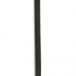 Шнур естествена кожа 10x6 мм черен - 1 метър