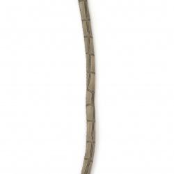 Шнур изкуствена кожа 6x5 мм с пълнеж -1 метър