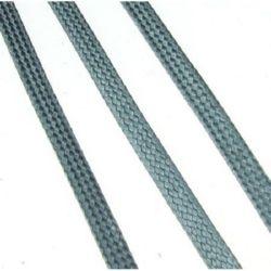 Κορδόνι Korean πλακέ 4x1 mm γκρι -10 μέτρα