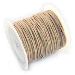 Шнур памук Корея 1 мм бежов -9 метра