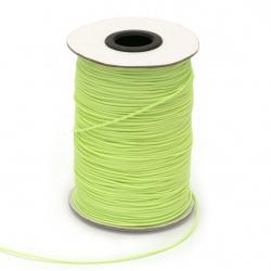 Шнур памук Корея 1 мм зелен светъл -180 метра